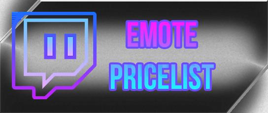 Twitch Emote Pricelist